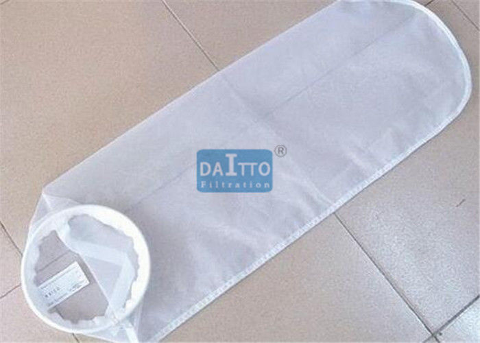 Plastic Ring Liquid Filter Bags Nylon Filter Mesh Excellent Thickness Uniformity