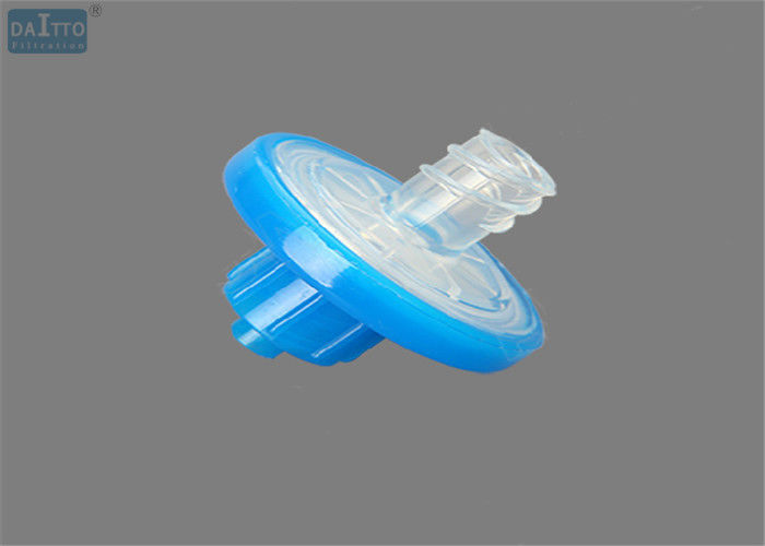 13mm 0.45um PES Syringe Filter , Micron Filter Syringe Low Hold Up Volume