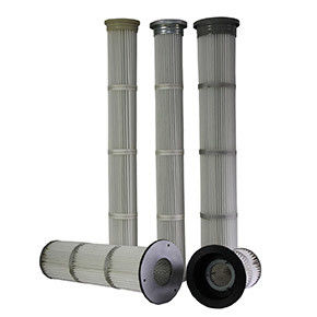 Low Pressure Drop Pleated Filter Cartridge , Industrial Hepa Filter Careful Construction
