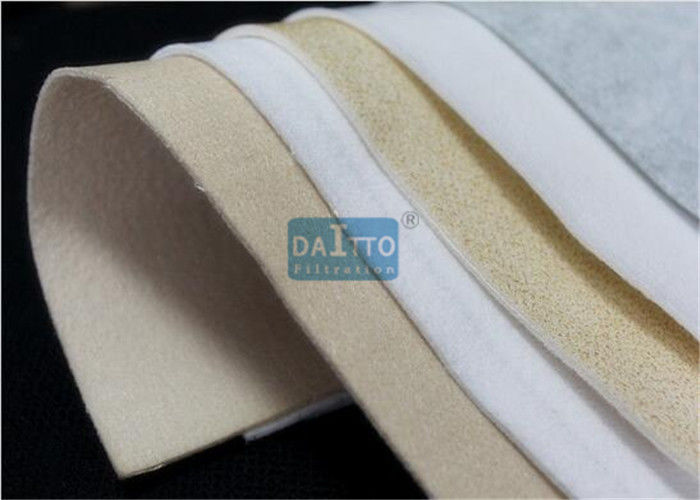 Needle Punched Woven Filter Fabric High Efficiency Dust Cleaning 100% P84