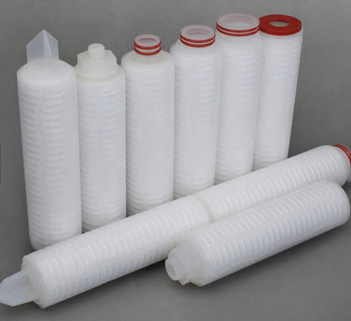 Industrial 5 Micron Nylon Pleated Filter Cartridge For Bacterial Filtration